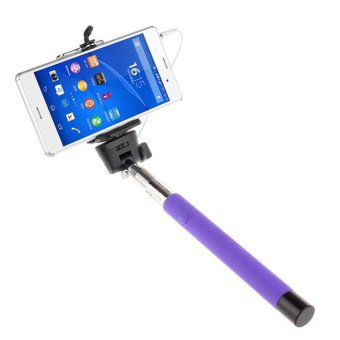 Extendable Handheld Self-portrait Monopod for IOS Android (Purple)
