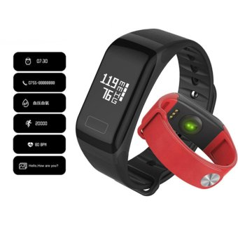 F1 Smart Band Blood Oxygen Pressure Monitor Sport Bracelet Heart Rate Monitor Call/SMS Reminder For iOS Android Phone pk fitbits - intl