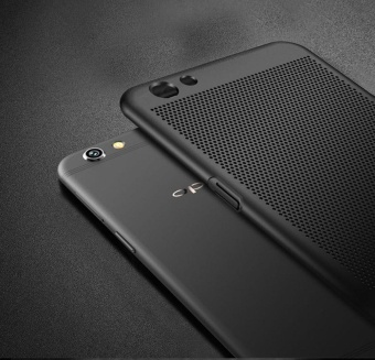 f3 plus case qzhi Ultra thin Durable breathing holes Heat TransferHard PC and Soft Metal Paint Phone Case for oppo f3 plus - intl - 4