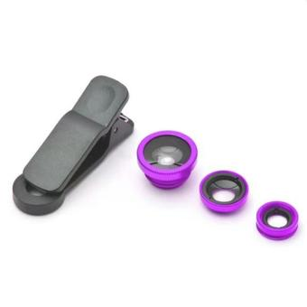 FA 3-in-1 Macro/Fish-eye/Wide Clip Lens for Mobile Phone andTablets