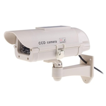 Fake Dummy Outdoor Security Solar Power Camera CCD Camera withFlishing - intl