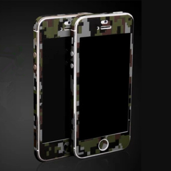 Fashion Camouflage Green Full Body Skin Sticker DIY Front BackCover Film for Apple iPhone 6(s) Plus - 4