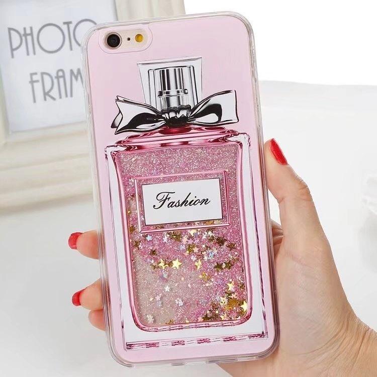 Fashion Drink Bottle Dynamic Liquid Glitter Girl Style QuicksandPhone Cases for Apple iphone 6 Plus 6s
