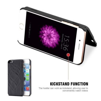 Fashion Lady Mirror Wallet Case For iphone 6 6s Leather Flip MakeupMirror Phone Cases Card Slot Holder Stand - intl - 3