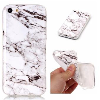 Fashion Marble Pattern Slim Protective Skin Soft TPU Cover Bufferphone case for Apple iphone 5C - intl Price Philippines