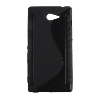 Fashion S-Line Rubber Soft TPU Case Gel Cover for Sony Xperia M2(Black) - intl Price Philippines
