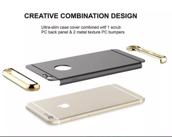 Fashion Shockproof for iPhone 5s SE Plating Metal TextureSkin-friendly Mobile Phone Cover Case - intl - 4