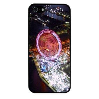Ferris Wheel Pattern Phone Case for iPhone 4/4S (Black)