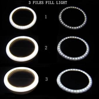 FFY Mobile Phone Fill Light LED Self-Sticks Flash Light Beauty FillLight Round Flash Light Artifact Apple Lens Photography &Studio Lighting - intl - 4