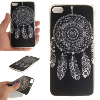 Fit Soft TPU Phone Back Case Cover For Lenovo S90 Sisley S90T(White Dreamcatcher) - intl