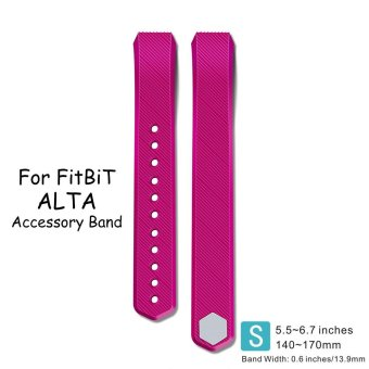 Fitbit Alta and Fitbit Alta HR Starp,AWINNER Silicone ReplacementBands Bracelet Strap For Fitbit Alta HR and Alta(Small ) - intl