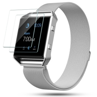Fitbit Blaze Screen Protector,2-Pack Premium Tempered Glass ScreenProtector for Fitbit Blaze Smart Watch - intl
