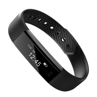 Fitness Sport Tracker Smart Bracelet Wristband ID115 Bluetooth CallRemind Smart Watch Calorie Counter Sleep Monitor for iOS AndAndroid Black - intl