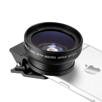 Fitzladd Super Digital Camera Lens 0.45x Wide Angle Lens, 12.5xMacro Lens for iPhone 6 / 6s / 6 Plus / 5s, Smart Phone-Black - 3
