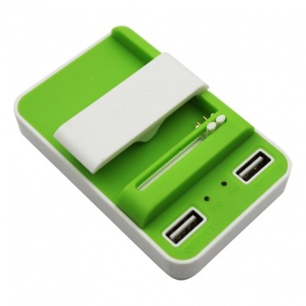 FLASH Universal Charger with 2 USB Ports 2.1A (Green)