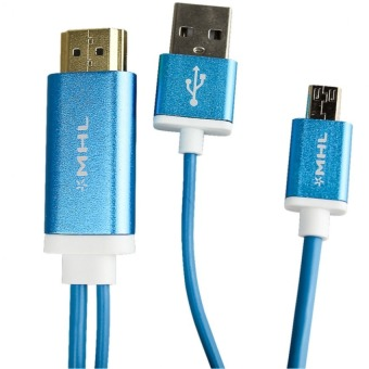 FLASH X Meter MHL and Micro USB to HDMI Adapter Cable (Blue)