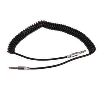 Flexible 3.5mm Car Jack M to M Extend Stereo Audio AUX Cable CordBlack