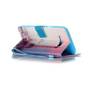 Flip Cover Leather Case for Samsung Galaxy J7 (2016) J710 (Eiffel Tower) - Intl - 3