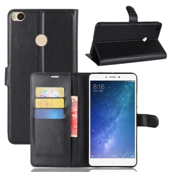 Flip Cover Leather Phone Case Wallet Card Holder For Xiao Mi Max 2 - intl