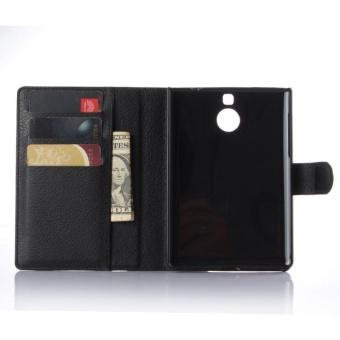 Flip Leather Case Built In Card Slot For Blackberry Passport SilverEdition Black - intl - 4