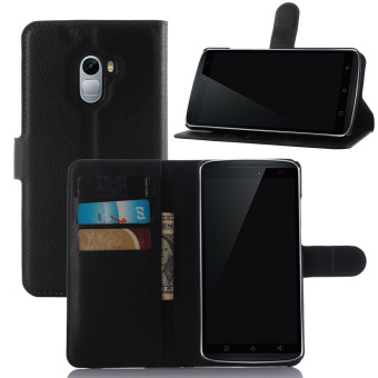 Flip Leather Wallet Case Cover for Lenovo K4 Note (black) - intl
