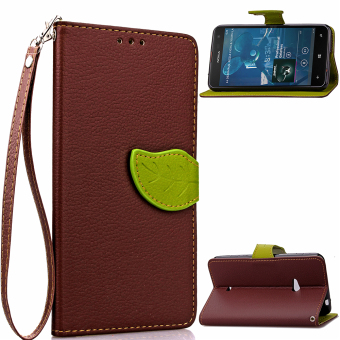 Flip Stand Case Cover for Nokia Lumia 625 (Brown) - Intl