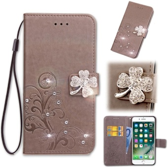 "Flip Style Fashion Lucky Clover Pattern Cover (PU leather and TPU)Stand Function Protection wallet Bling phone case for Asus Zenfone3 Max ZC520TL 5.2"" - intl Price Philippines"