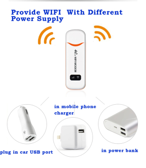 FLORA 4G FDD LTE 100Mbps WiFi Router Hotspot USB WIFI DongleWireless Router Support 4G Band1/Band3(White) - intl - 4