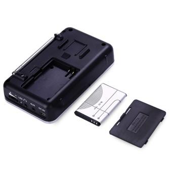 FM AM Mini Radio Digital LCD Speaker MP3 Music Player AUX USB TF with LED Light Black - intl - 4