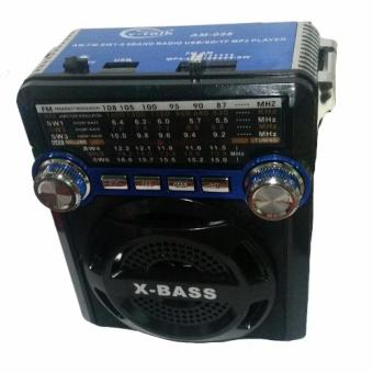 FM/AM MP3 Player Rechargeable Radio with USB