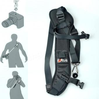 Focus F-1 Quick Rapid Shoulder Sling Belt Neck Strap for Canon Nikon Sony Pentax Camera SLR DSLR Black