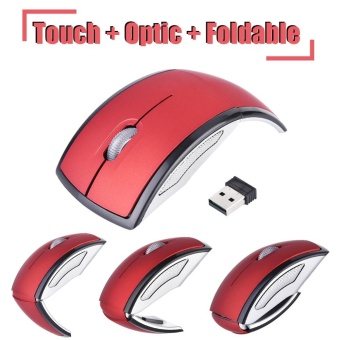 Foldable Wireless 2.4GHz USB Optical Mouse Mice 1600DPI withReceiver for PC Laptop Red - intl Price Philippines