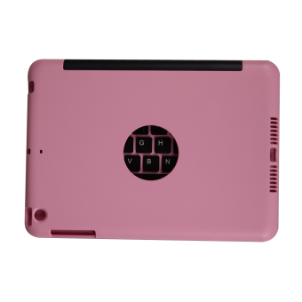 Foldable Wireless Bluetooth Keyboard Case for iPad Mini 1 2 3(Pink)