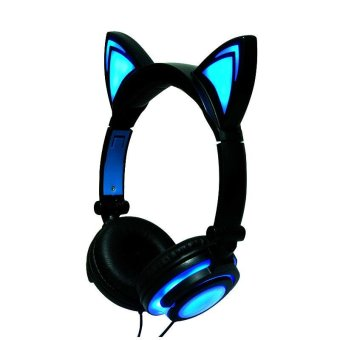 Folding Headset LED Luminous Glowing Cat Ear Music Headphones Earphone
