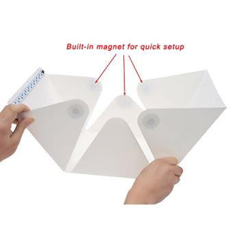 Folding Photo studio Shooting Tent with LED Light Room Photo Studio Photography Lighting Tent Backdrop Cube Box Mini Stand Portable - 5