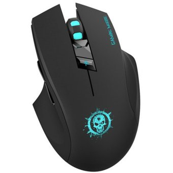 FOME C10 Ergonomic Noiseless Buttons Optical Wireless Gaming Mouse (Black)