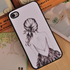 For Apple iPhone 4 / 4s 3D Stereo Relief Painting Back Case Cover (Multicolor-4) - intlPHP528. PHP 528