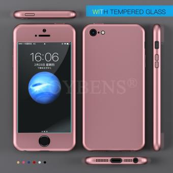 For Apple iPhone 5/5S/5SE Case 360 Full Protection Matte Hard Plastic Slim Back Cover RoseGold - intl - 2