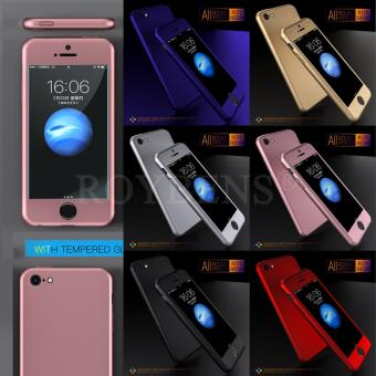 For Apple iPhone 5/5S/5SE Case 360 Full Protection Matte Hard Plastic Slim Back Cover RoseGold - intl - 3
