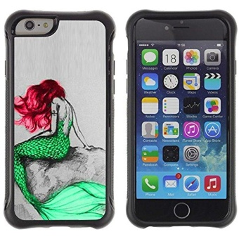 [ For APPLE IPHONE 6 PLUS / 6S PLUS (5.5 IN.) ][ ToughCase ][ ShockProof Back Case ] - Mermaid Green Red Hair Tail Ocean Fairy Tale -intl Price Philippines