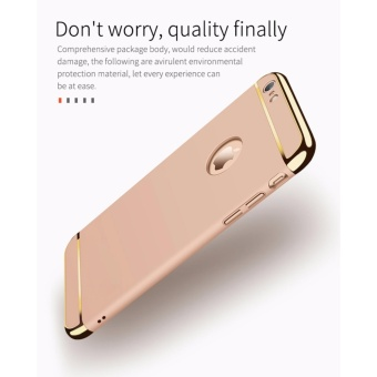 For Apple iphone 6 plus/6S plus 3 In 1 Hard PC + Acrylic Luxury Anti-knock Armor Ultra Slim Metal Hard Back Case Cover 5.5inch - intl - 5