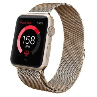 For Apple Watch 38mm Milanese Magnetic Loop Stainless Steel WatchBand Strap GD - intl