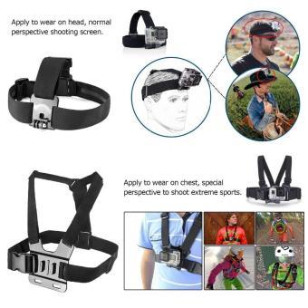 For Gopro Accessories Set Helmet Harness Chest Belt Head MountStrap Monopod Go pro hero 5 4 3 session 3 SJ4000 SJ7000 - intl - 2