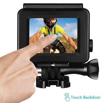 For Gopro Hero 5 Accessories 45m Waterproof Hoursing Case withTouch Black Cover - intl - 2