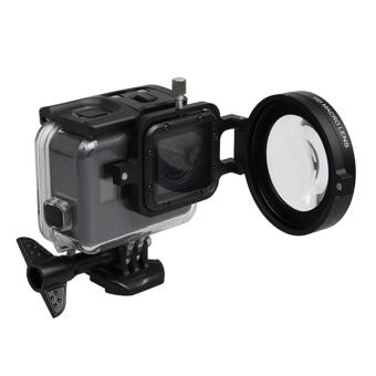 For GoPro HERO5 Sport Action Camera Professional 58mm 16X MacroLens Close-up Filter With Lens Base and Adapter Ring and LensProtective Cap and Anti-lost Hand Strap and Cleaning Cloth - intl - 3