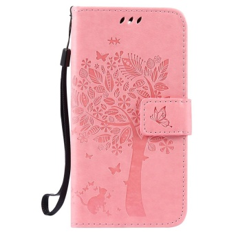 For Huawei GR3 / P8 Lite Smart Phone Case - PU Leather cellphonecase Stent Wallet Flip Case - Lucky Wishing Tree - intl