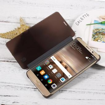 For Huawei Mate 9 Translucent View Window Smart Leather Case Cover - Black - intl
