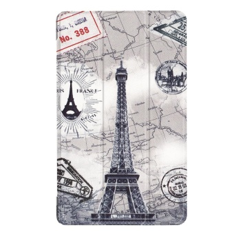 For Huawei Mediapad T3 8.0 Ultra Slim Tri-Fold PU Leather TabletCase Cover (Eiffel Tower) - intl - 2