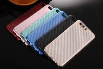 For huwei p10 plus Carbon Fiber Soft Silicone TPU Back Cover PhoneCases - intl