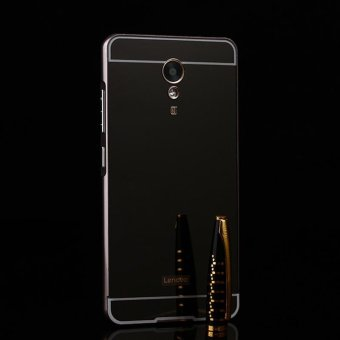 For Lenovo P2 Ultra Slim Thin Metal Frame Bumper Case with Mirror Effect Hard PC Back